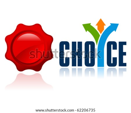 best choice vector icon. Put your message in the blank seal (for example number 1 or the word best, smart, etc) - stock vector