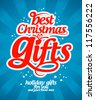 Best Christmas gifts design template. - stock vector