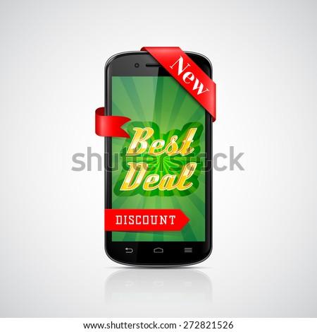 Best Deal Banner. Smartphone Offer. Vector Design - stock vector