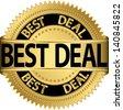 Best deal golden label, vector illustration - stock photo