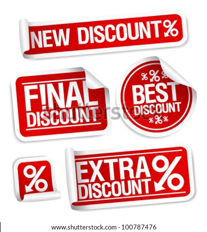 Best discount sale stickers set.