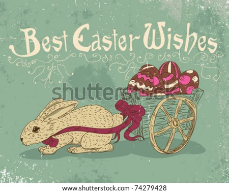 Best Easter Wishes. - stock vector
