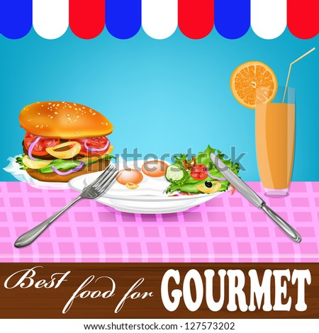 Best food for gourmet.Vector - stock vector
