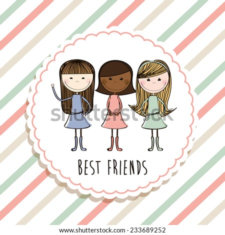 best friends design , vector illustration