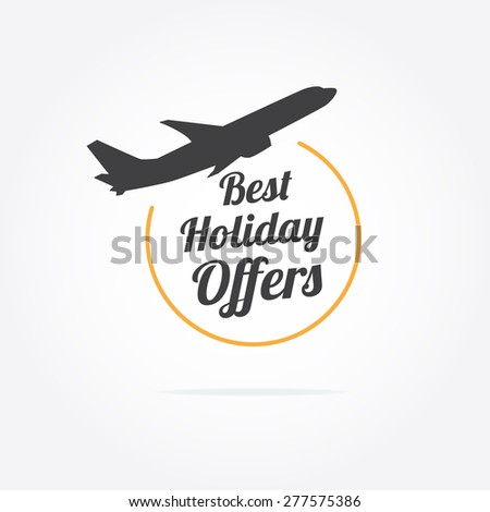 Best Holiday Offers - stock vector