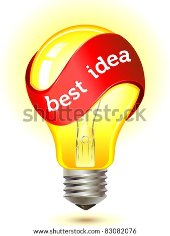 best idea light bulb concept . vector illustration - stock vector