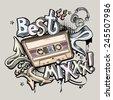 Best Mix music graffiti - stock