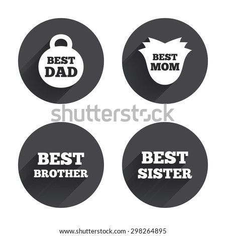 Best Mom Dad Brother Sister Icons Stock Vector 298264895 Shutterstock