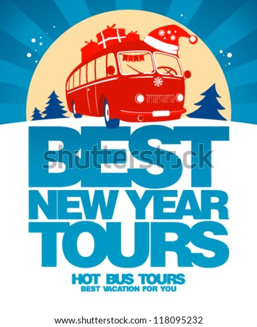 Best New Year tours design template.