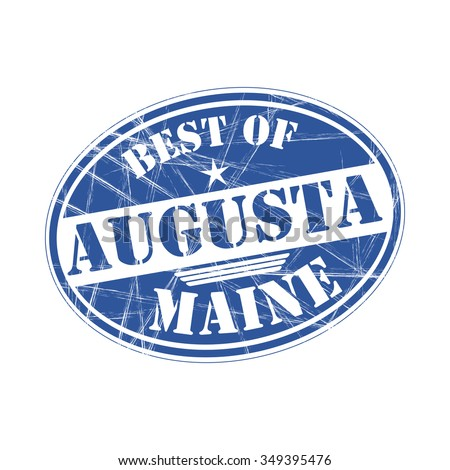 Best of  Augusta grunge rubber stamp against white background