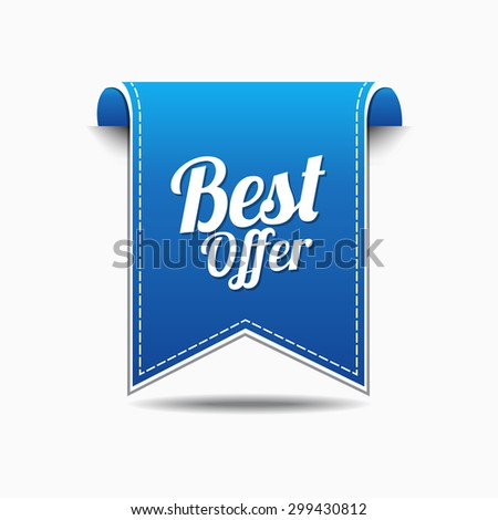 Best Offer Blue Vector Icon Design