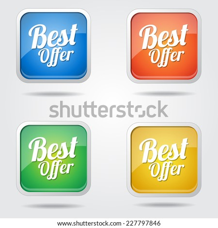 Best Offer Colorful Vector Icon Design