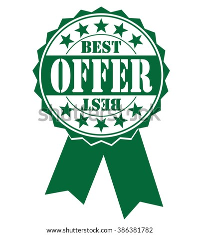 best offer icon on white, vector illustration