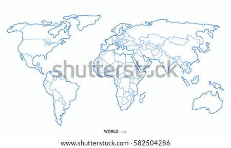 Best popular world map outline country vectores en stock 582504286 best popular world map outline country graphic vector gumiabroncs Image collections
