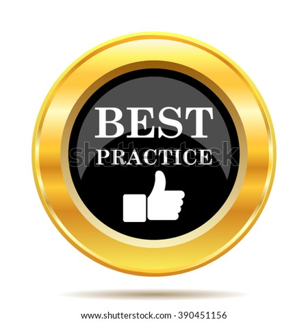 Best practice icon. Internet button on white background. EPS10 vector.