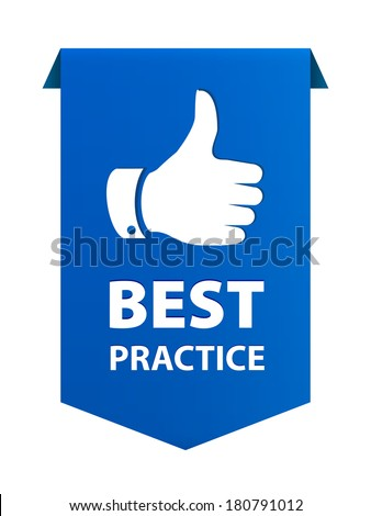 Best practice ribbon banner icon isolated on white background. Vector illustration - stock vector
