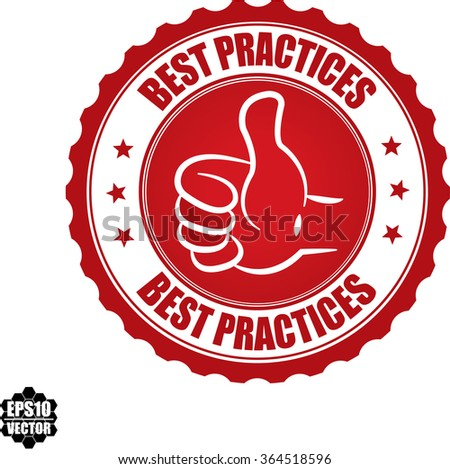 Best practices stamp.Vector.