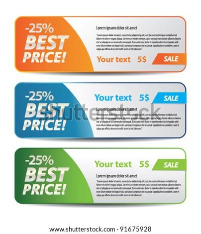 Best price banner - stock vector