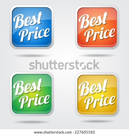 Best Price Colorful Vector Icon Design