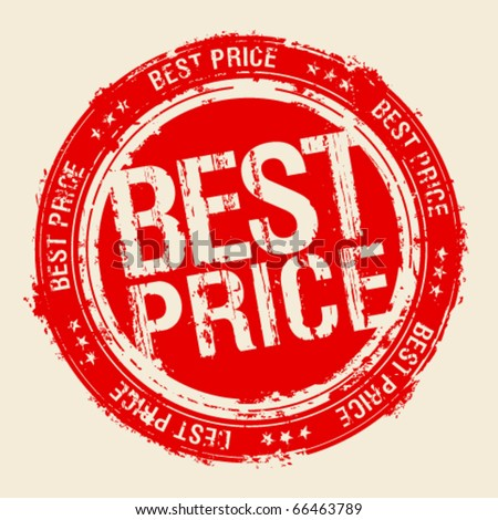 Best price rubber stamp. - stock vector