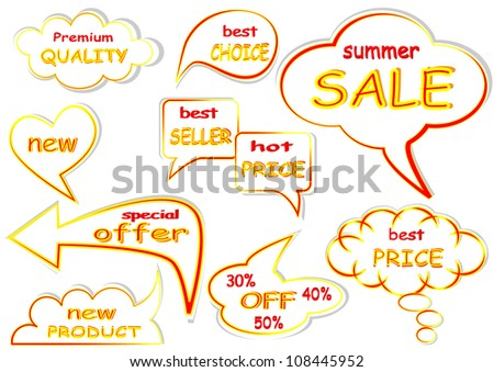 Best price sale tag vector set
