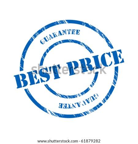 Best price stamp - stock vector