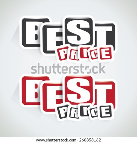 Best price tag in two different color variations - stock vector