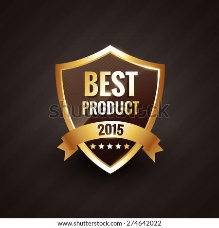 best product of 2015 vector golden label design badge element - stock vector