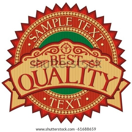 best quality badge - label (stamp) - stock vector