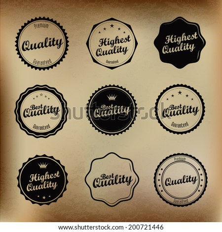 Best Quality badges in vintage style |  editable vector. - stock vector