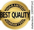 Best quality guaranteed golden label, vector illustration - stock photo