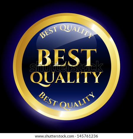 Best quality icon - stock vector