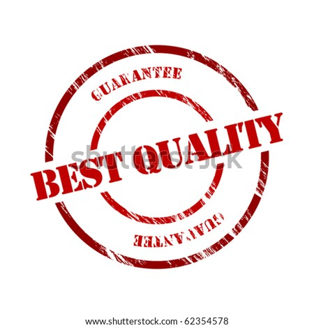 Best quality stamp - stock vector
