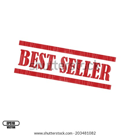 Best seller grunge rubber stamp on white background, vector illustration