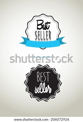 Best seller label, vector illustration, Eps 10 - stock vector