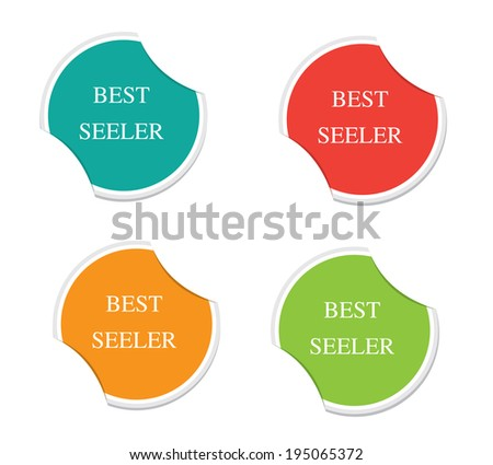 Best seller sign icon. Special offer symbol. Round stickers.  - stock vector
