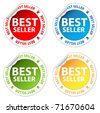 Best seller stickers set - stock vector
