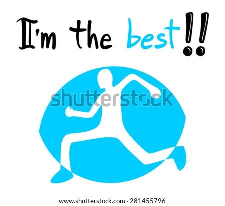 best sport message - stock vector