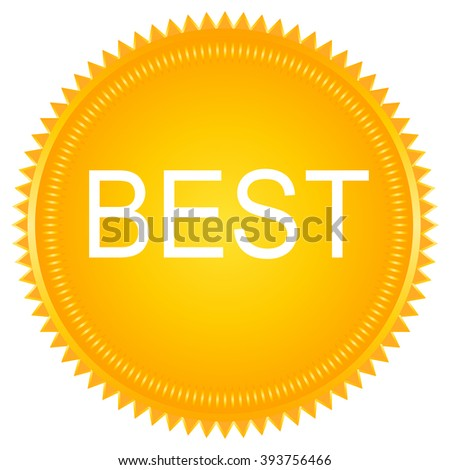 Best Tag label.  - stock vector