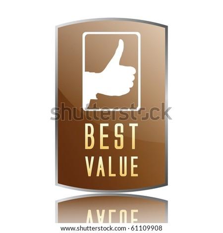 best value label - stock vector