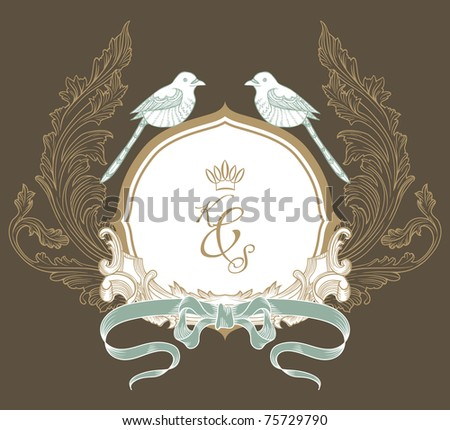 best vintage ROM card - stock vector