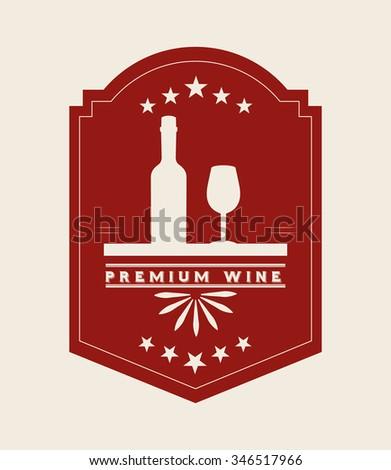 best wine design, vector illustration eps10 graphic  - stock vector