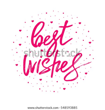 Best wishes lettering hand drawn vector stock vector 2018 best wishes lettering hand drawn vector illustration greeting card design logo m4hsunfo
