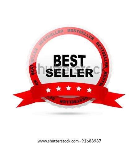 Bestseller label. Vector. - stock vector