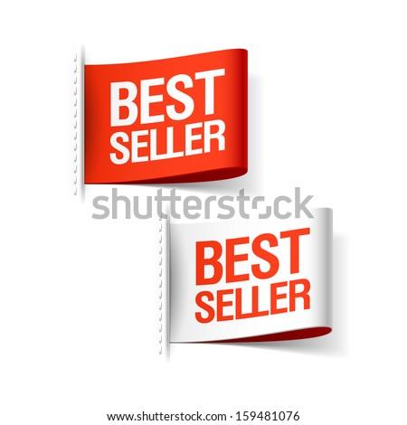 Bestseller labels. Vector. - stock vector