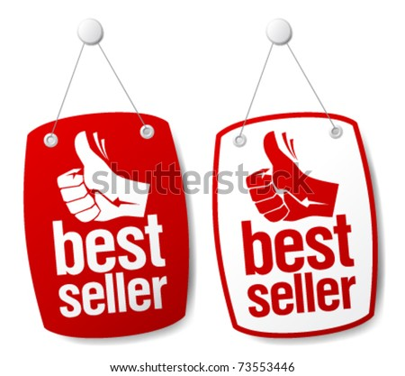 Bestseller signs set. - stock vector