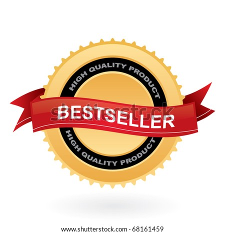 Bestseller vector sign - stock vector