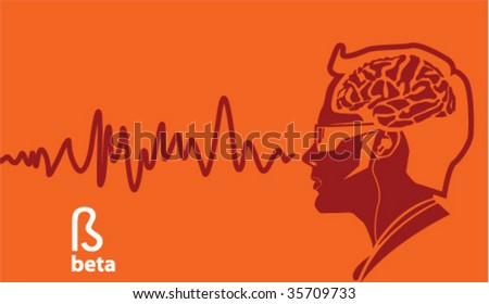 Beta Brainwave frequencies - stock vector