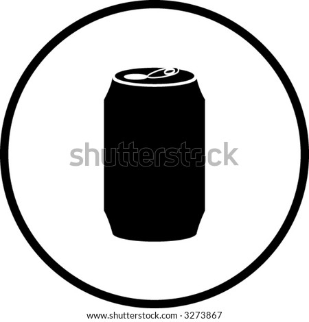 beverage can symbol - stock vector