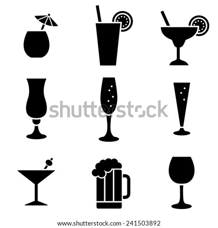 Beverage Icons - stock vector